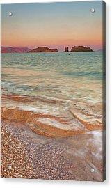 Sea Waves, Sitia,greece Acrylic Print by © Mitrakoulis Alexandros