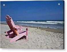 Seas The Chair  Acrylic Print by Betsy Knapp