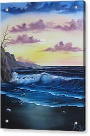 Seascape Sunset Acrylic Print by Kevin Hill