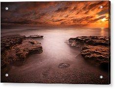 Seaside Reef Sunset 3 Acrylic Print by Larry Marshall