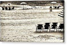 Seats On The Beach Acrylic Print by John Rizzuto
