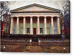 Second Bank Of The United States Philadelphia Pa Acrylic Print by Bill Cannon