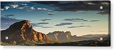 Sedona Sunset Acrylic Print by Scott Faunce