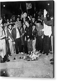 Segregationist Protest. White Students Acrylic Print by Everett