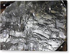 Selenite Mineral Sample Acrylic Print by Dirk Wiersma