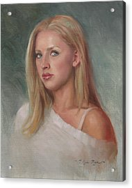 Self Portrait Acrylic Print by Anna Rose Bain