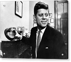 Senator John F. Kennedy, Holds Acrylic Print by Everett