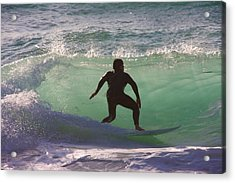 Sennen Cove Surf Acrylic Print by Ed Lukas