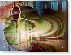 Sensing The Spheres Acrylic Print by Linda Sannuti