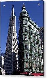 Sentinel Building San Francisco Acrylic Print by Garry Gay