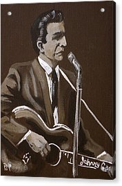 Sepia Johnny Acrylic Print by Pete Maier