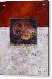 September Rose Acrylic Print by Ann Powell