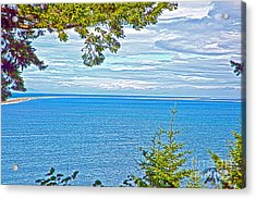 Sequim's Dungeness Spit Acrylic Print by Molly Heng