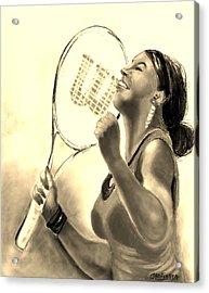 Serena In Sepia Acrylic Print by Carol Allen Anfinsen