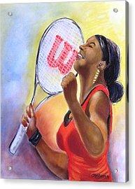 Serena Shines Acrylic Print by Carol Allen Anfinsen