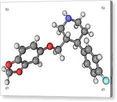 Seroxat Antidepressant Drug Molecule Acrylic Print by Laguna Design