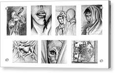 Seven Deadly Sins Acrylic Print by Steven  Burkett