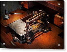 Sewing Machine - Sewing For Small Hands  Acrylic Print by Mike Savad