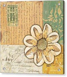 Shabby Chic Floral 2 Acrylic Print by Debbie DeWitt