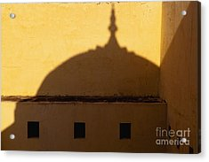 Shadow Cast On The Amber Fort Acrylic Print by Inti St. Clair