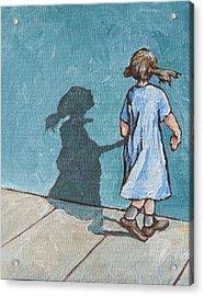 Shadow Play Acrylic Print by Sandy Tracey