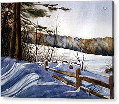 Shadows Of Winter Acrylic Print by Daydre Hamilton