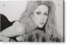 Shakira Acrylic Print by Andrew Nelson