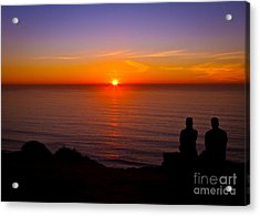 Share A Sunset To Start 2012 Acrylic Print by Carl Jackson