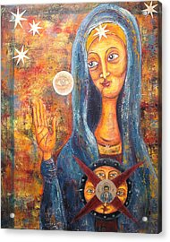 She Sees And Blesses All Acrylic Print by Suzan  Sommers