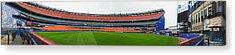 Shea Stadium Pano Acrylic Print by Dennis Clark