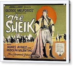 Sheik, Rudolph Valentino, 1921 Acrylic Print by Everett