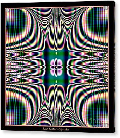 Shimmering Plaid Fractal 66 Acrylic Print by Rose Santuci-Sofranko
