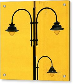 Shine On.. #italy #lamppost Acrylic Print by A Rey