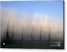 Ship At Harbour  Acrylic Print by Catherine Lau