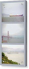 Shipping Triptych - San Francisco Bay Acrylic Print by Steve Ohlsen