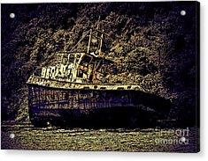 Shipwreck Acrylic Print by Tom Prendergast