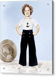Shirley Temple, Studio Portrait, Ca Acrylic Print by Everett