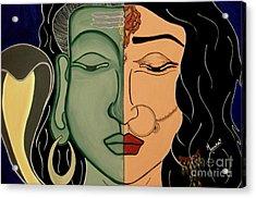 Shiv-shakti Acrylic Print by Meenakshi Malhotra