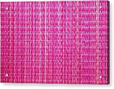 Shocking Pink Woven Raffia Acrylic Print by Kantilal Patel