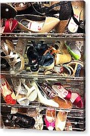 Shoe Sale Acrylic Print by Donna Blackhall