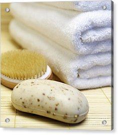 Shower Supplies Acrylic Print by Skip Nall