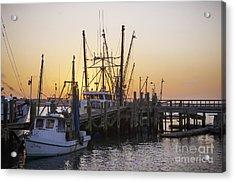 Shrimp Boats Port Royal Acrylic Print by David Waldrop