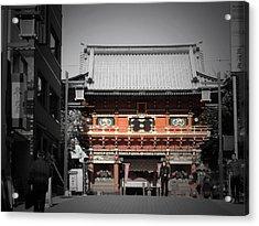 Shrine In Tokyo Acrylic Print by Naxart Studio