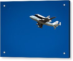 Shuttle Enterprise Through A Clear Sky Acrylic Print by Anthony S Torres
