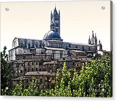 Siena Italy - Siena Cathedral -02 Acrylic Print by Gregory Dyer