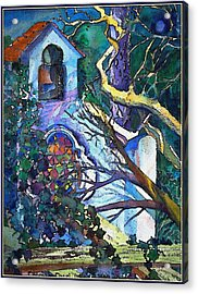 Silence At St. Michel Chapel In Capri Italy Acrylic Print by Mindy Newman