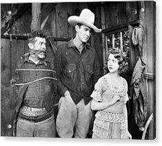 Silent Film: Cowboys Acrylic Print by Granger