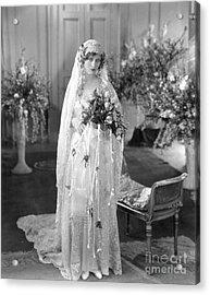 Silent Film: Wedding Acrylic Print by Granger