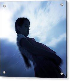 Silhouette Of A Girl Against The Sky Acrylic Print by Joana Kruse
