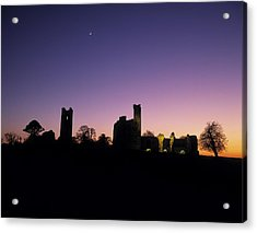 Silhouette Of St. Patricks Church And A Acrylic Print by The Irish Image Collection